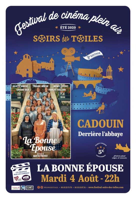 Cinéma de plein air - Cadouin - 04/08/2020 - La Bonne Epouse