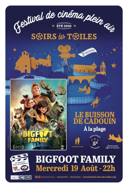 Cinéma de plein air  - Le Buisson Plage - 19/08/2020 - Big Foot Family