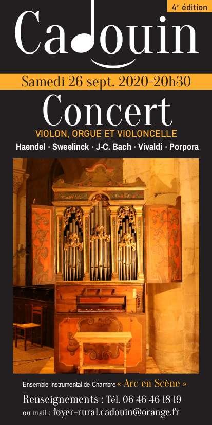 Concert autour de l'orgue à Cadouin