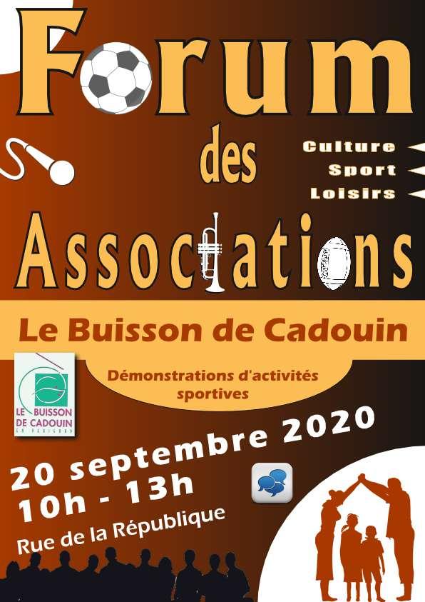 Cette année encore, venez retrouver les associations de du Buisson de Cadouin de 10h à 13h.