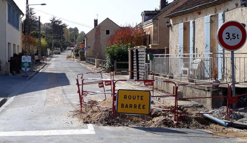 Travaux de la Rue de la Jacatte au 21 octobre.