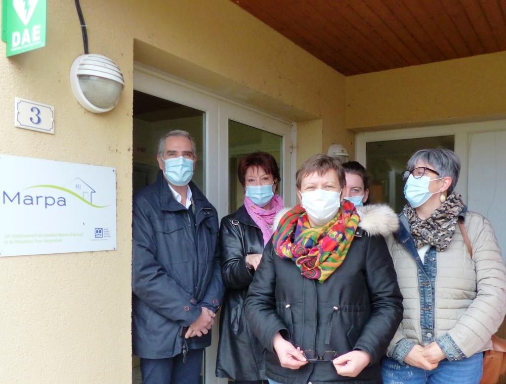 Les élus aux côtés des résidents et de l'ARS de la Dordogne