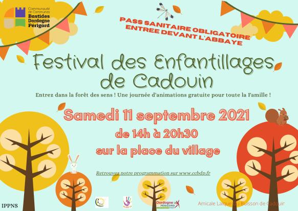 affiche festival de Cadouin - 11 sept 2021
